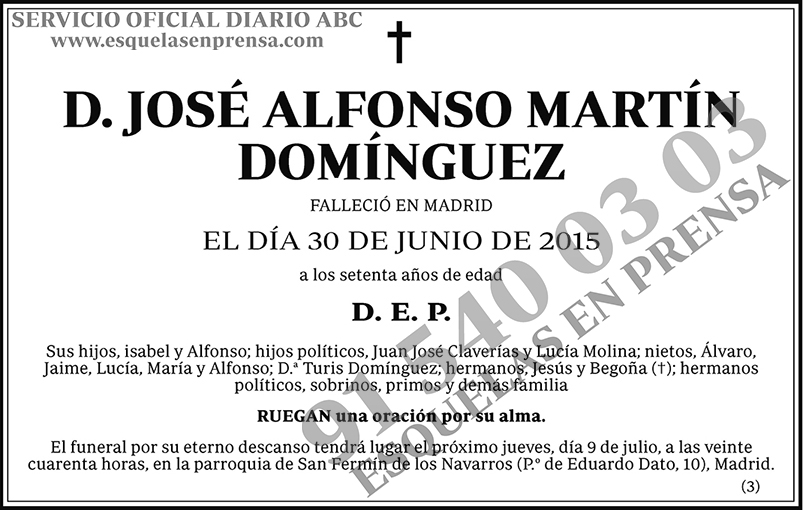 José Alfonso Martín Domínguez